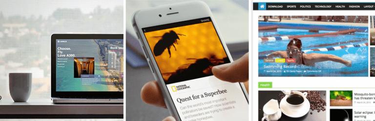 Ejemplo de cómo distribuir el contenido en webs